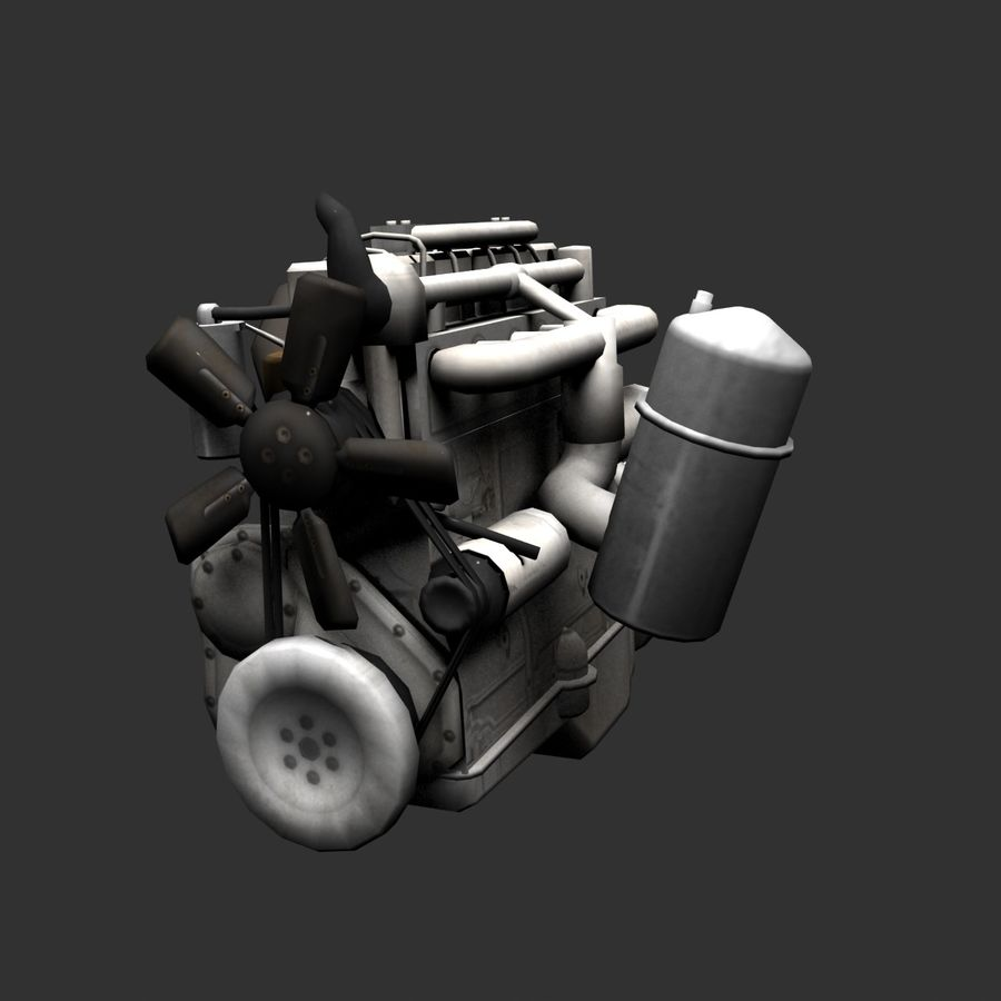 Motor 3 royalty-free 3d model - Preview no. 14