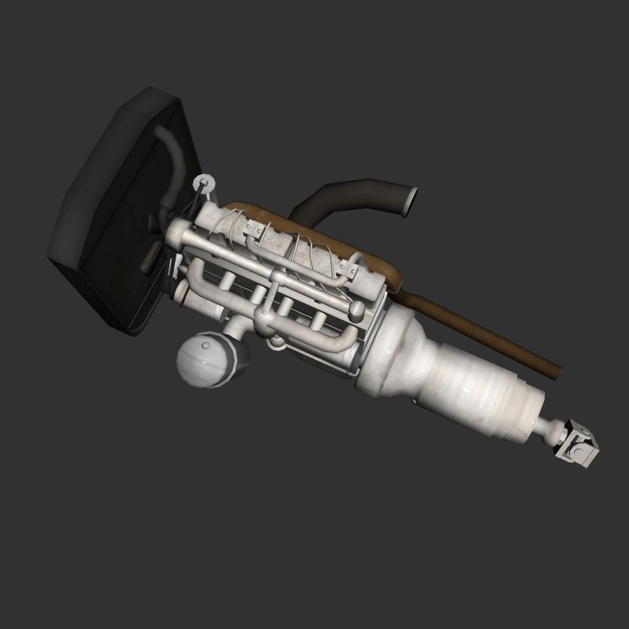 Motor 3 royalty-free 3d model - Preview no. 8