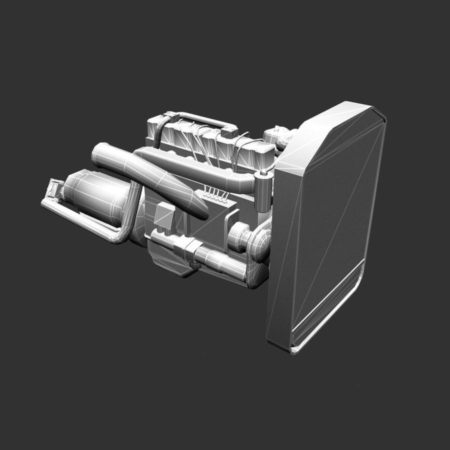Motor 3 royalty-free 3d model - Preview no. 16