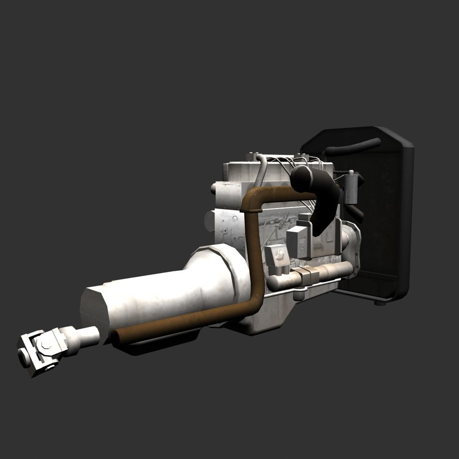Motor 3 royalty-free 3d model - Preview no. 5