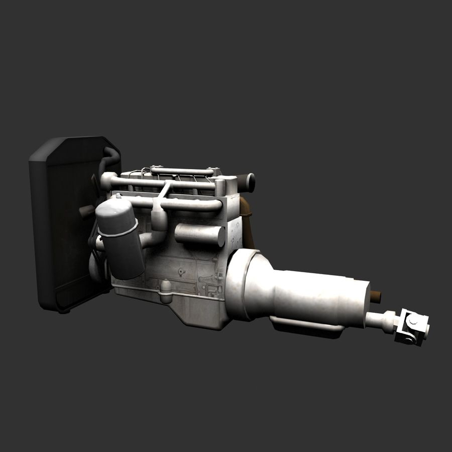 Motor 3 royalty-free 3d model - Preview no. 12