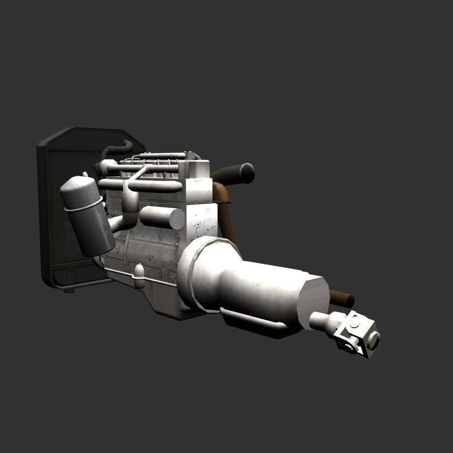 Motor 3 royalty-free 3d model - Preview no. 6