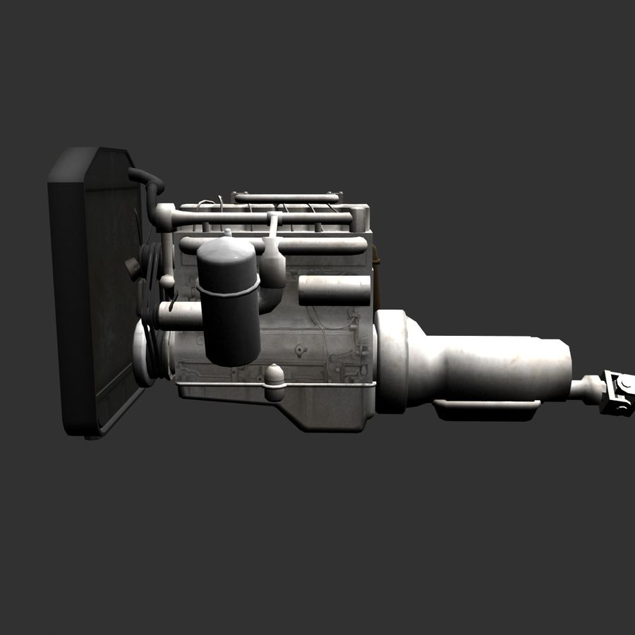 Motor 3 royalty-free 3d model - Preview no. 7
