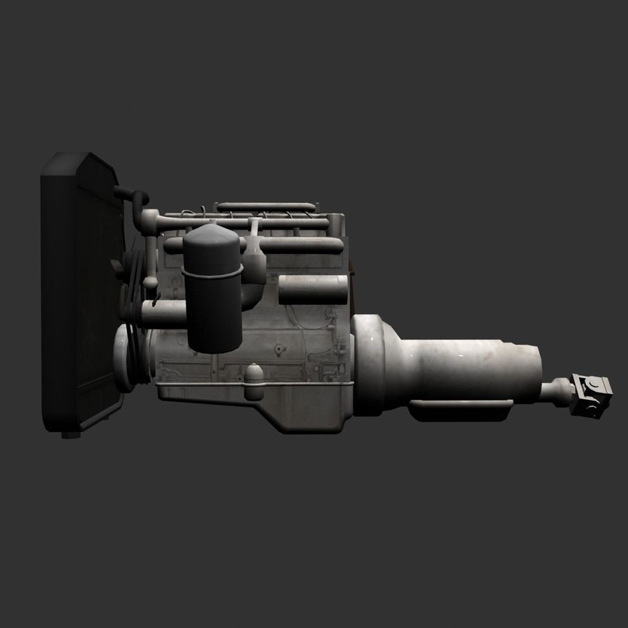 Motor 3 royalty-free 3d model - Preview no. 9