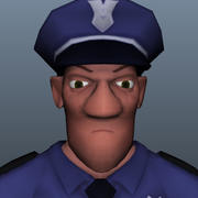 警察 3d model