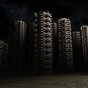 City alien 3d model