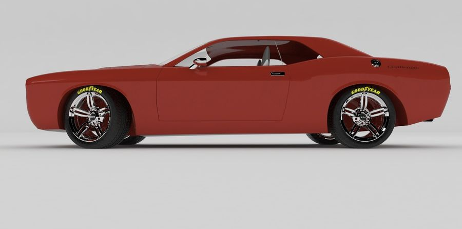 Dodge Challenger royalty-free modelo 3d - Preview no. 5