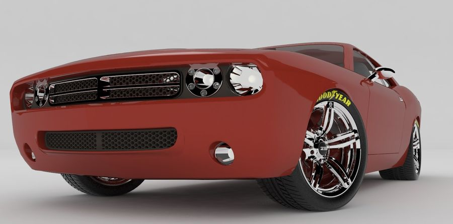Dodge Challenger royalty-free modelo 3d - Preview no. 4