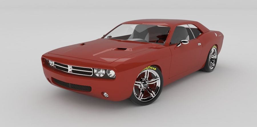 Dodge Challenger royalty-free modelo 3d - Preview no. 1