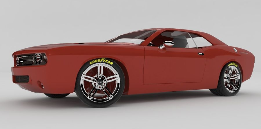 Dodge Challenger royalty-free modelo 3d - Preview no. 3