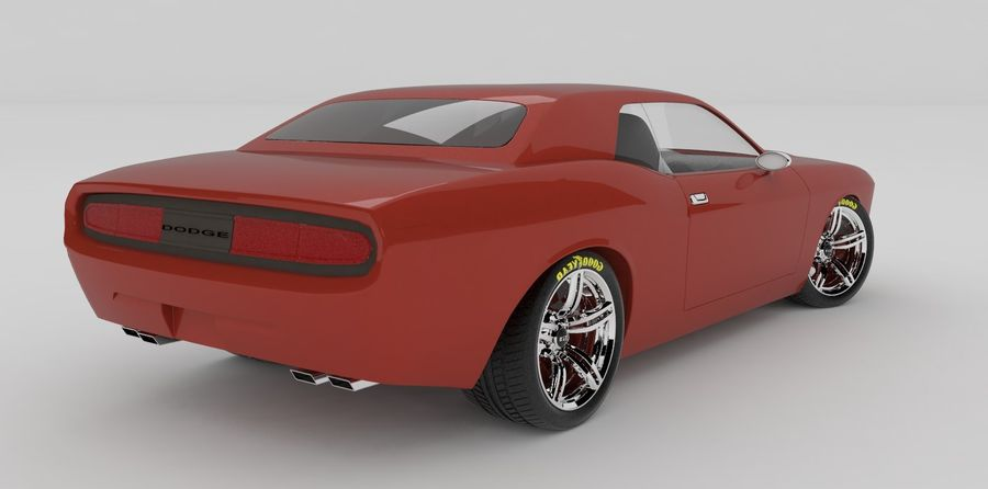 Dodge Challenger royalty-free modelo 3d - Preview no. 2