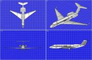 Gulfstream G-650 Business Aircraft Solid Assembly Model 3d model