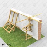 Machine on defense walls 3d model