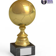 Trofeo Pallone da calcio 3d model