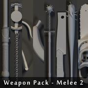 Pack d'armes - Mêlée 2 3d model
