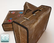 old travel suitcase 3d model
