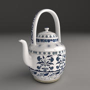 Porcelain Tea Set 3d model