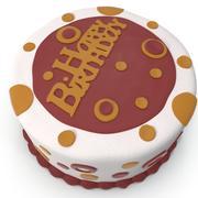 День рождения торт 3 3d model