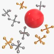球和插孔设置 3d model