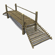 Pequena ponte de madeira 3d model