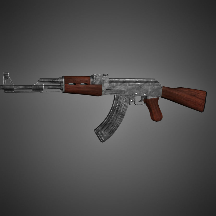 AK-47 Lowpoly royalty-free 3d model - Preview no. 5