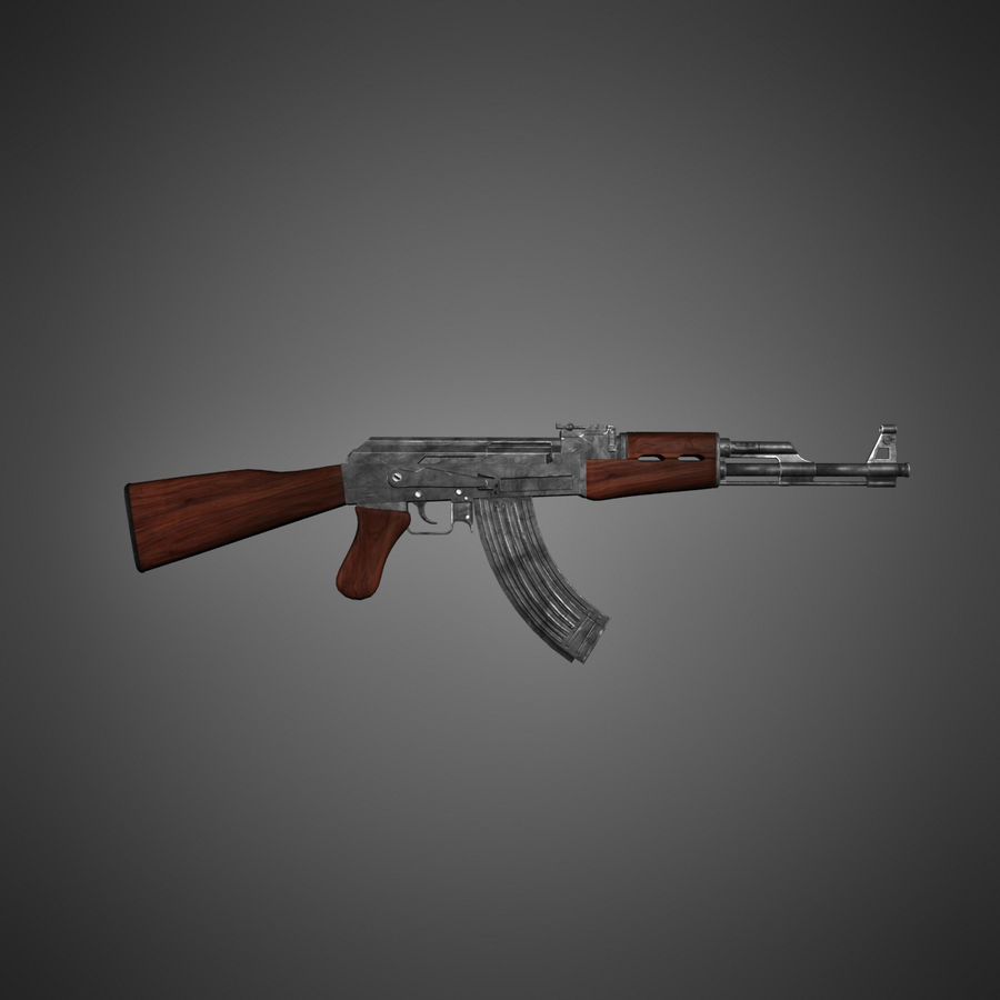 AK-47 Lowpoly royalty-free 3d model - Preview no. 1