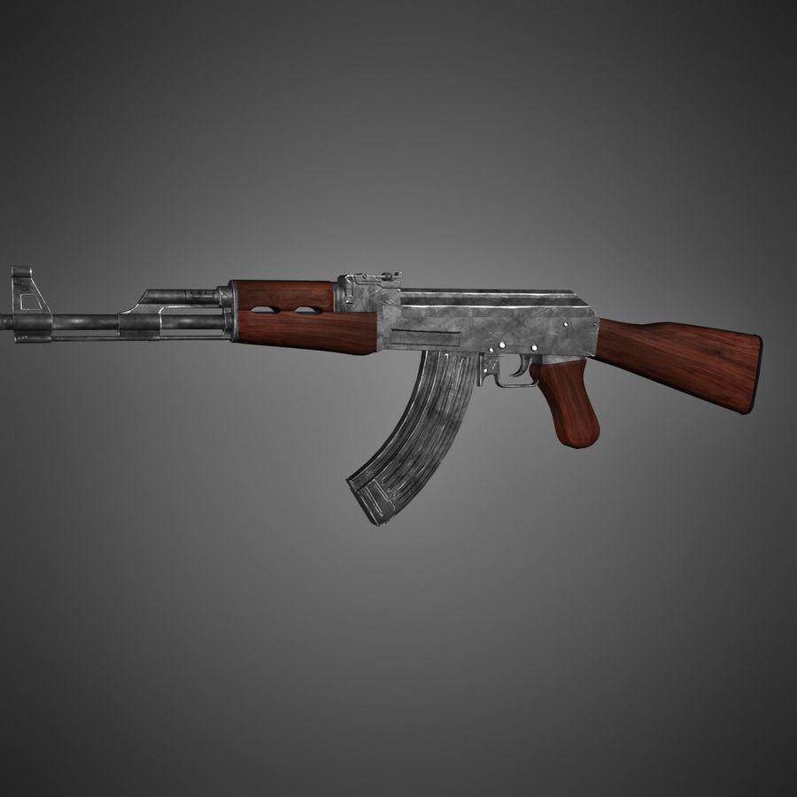 AK-47 Lowpoly royalty-free 3d model - Preview no. 5