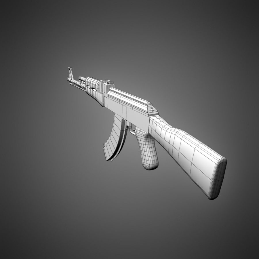 AK-47 Lowpoly royalty-free 3d model - Preview no. 14