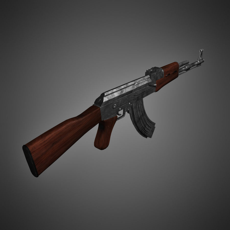 AK-47 Lowpoly royalty-free 3d model - Preview no. 7