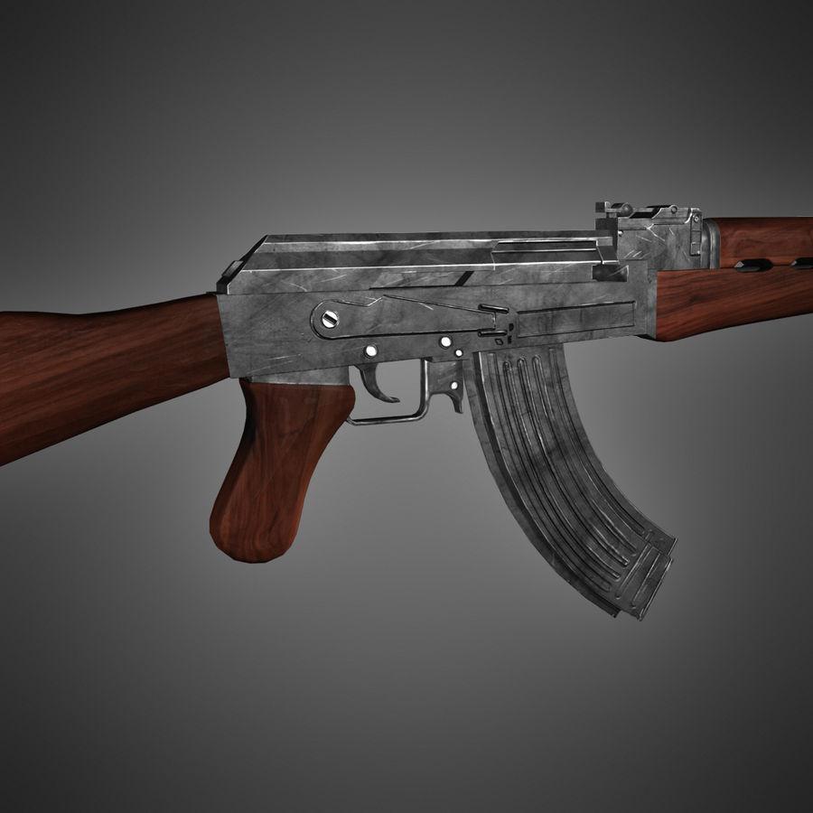 AK-47 Lowpoly royalty-free 3d model - Preview no. 2