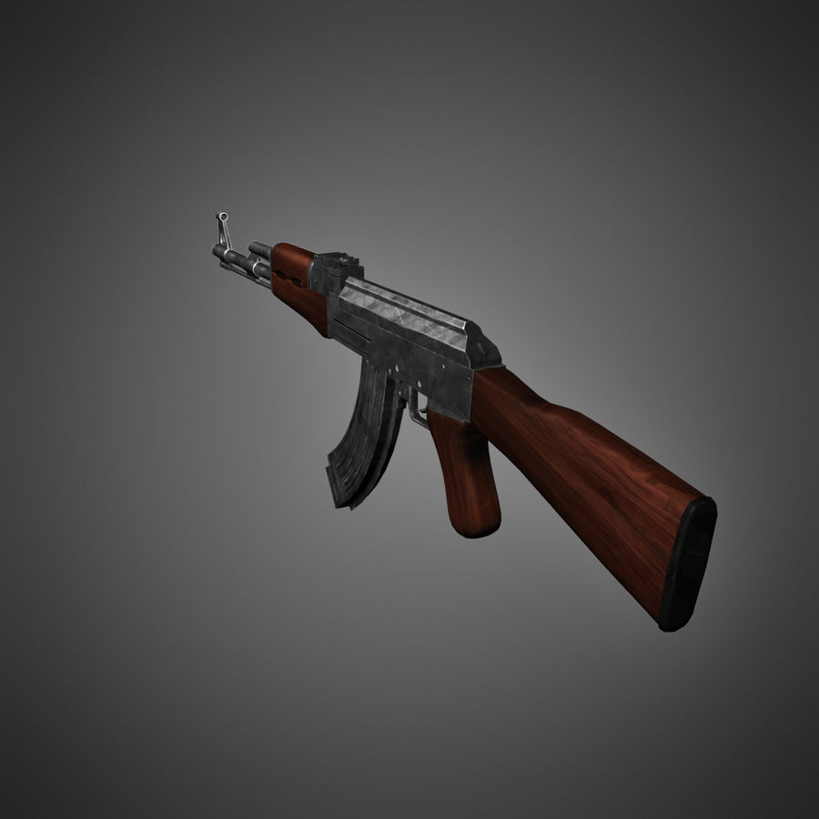 AK-47 Lowpoly royalty-free 3d model - Preview no. 6