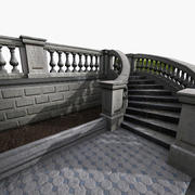 Klasik Taş Merdiven 3d model