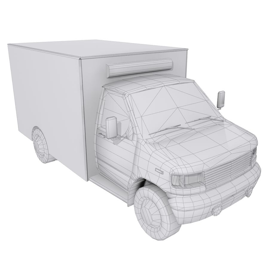 Ambulance royalty-free 3d model - Preview no. 9
