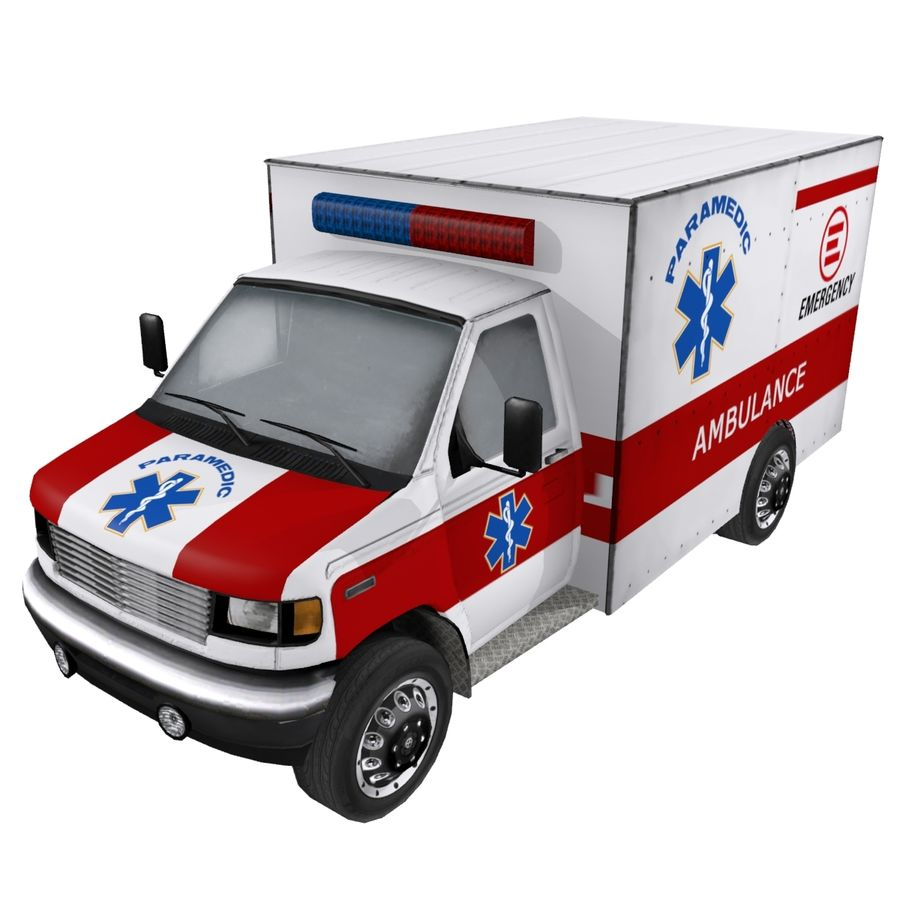 Ambulance royalty-free 3d model - Preview no. 2