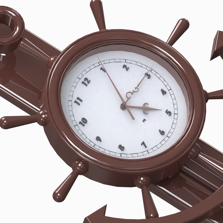 Wall Clock royalty-free 3d model - Preview no. 5