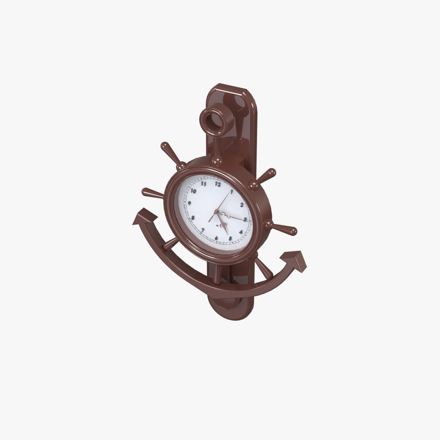 Wall Clock royalty-free 3d model - Preview no. 3