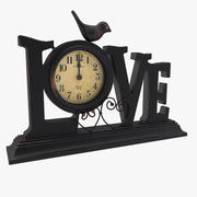 Bordsklocka kärlek 3d model