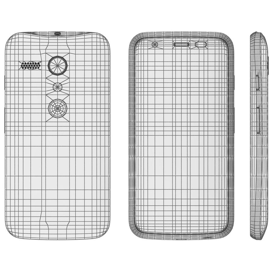 Motorola Moto G 4G Czarny royalty-free 3d model - Preview no. 21