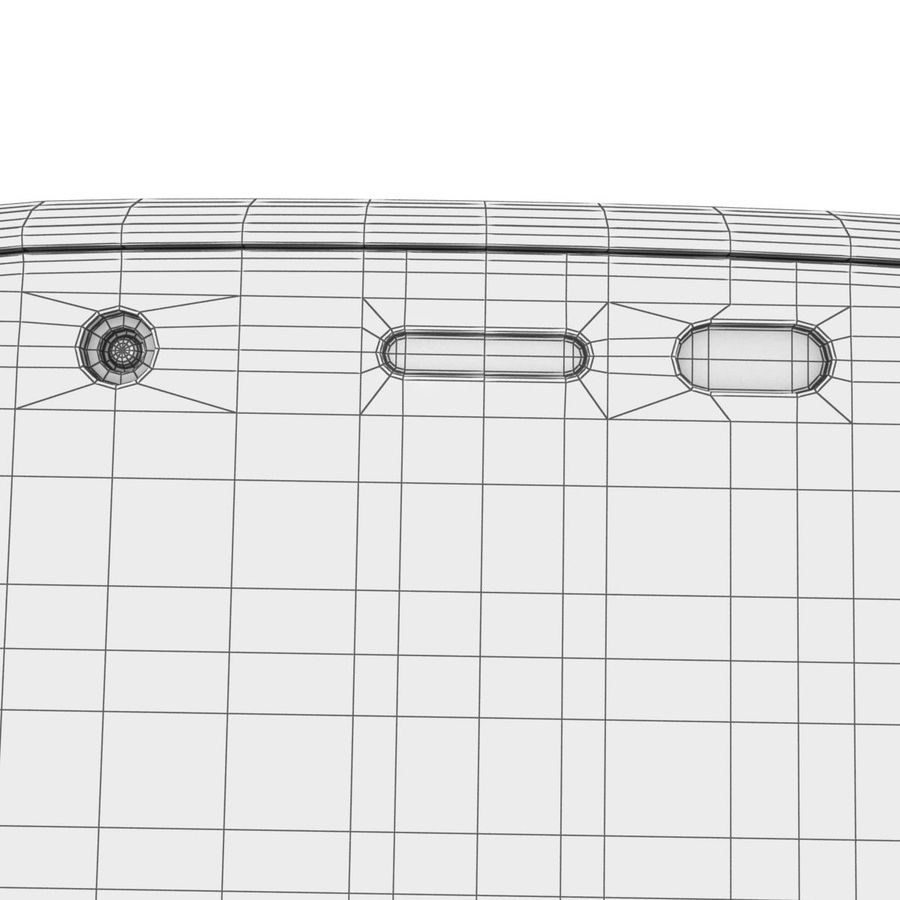 Motorola Moto G 4G Czarny royalty-free 3d model - Preview no. 34