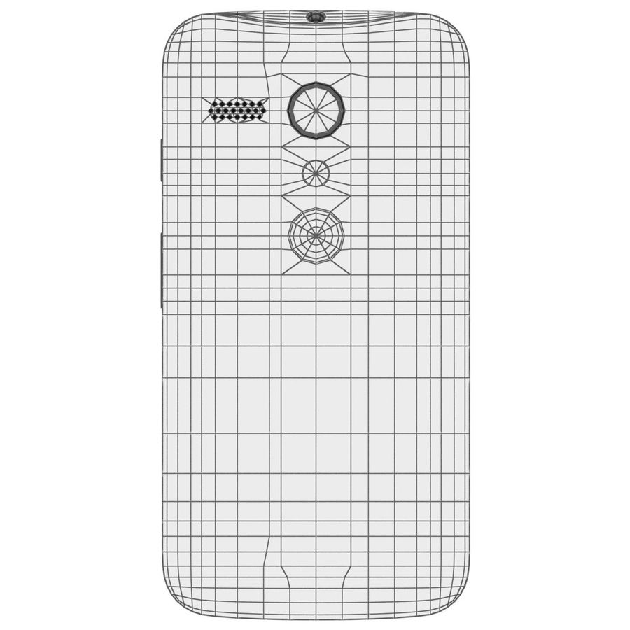 Motorola Moto G 4G Czarny royalty-free 3d model - Preview no. 28