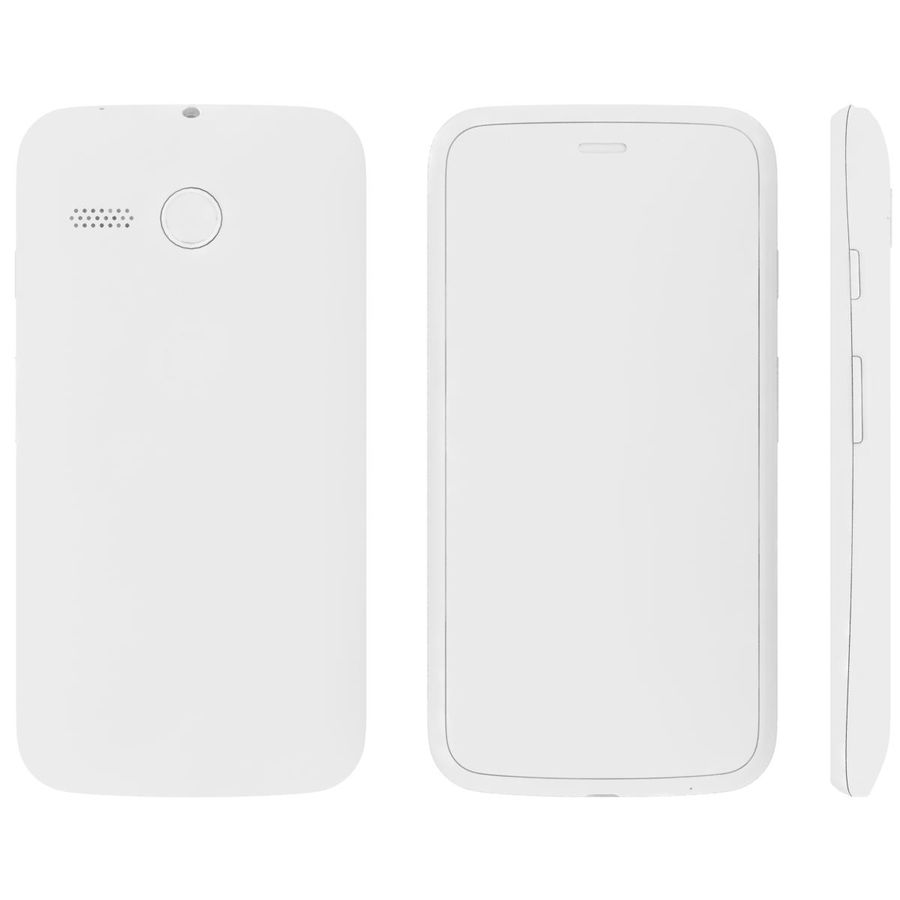 Motorola Moto G 4G Czarny royalty-free 3d model - Preview no. 26