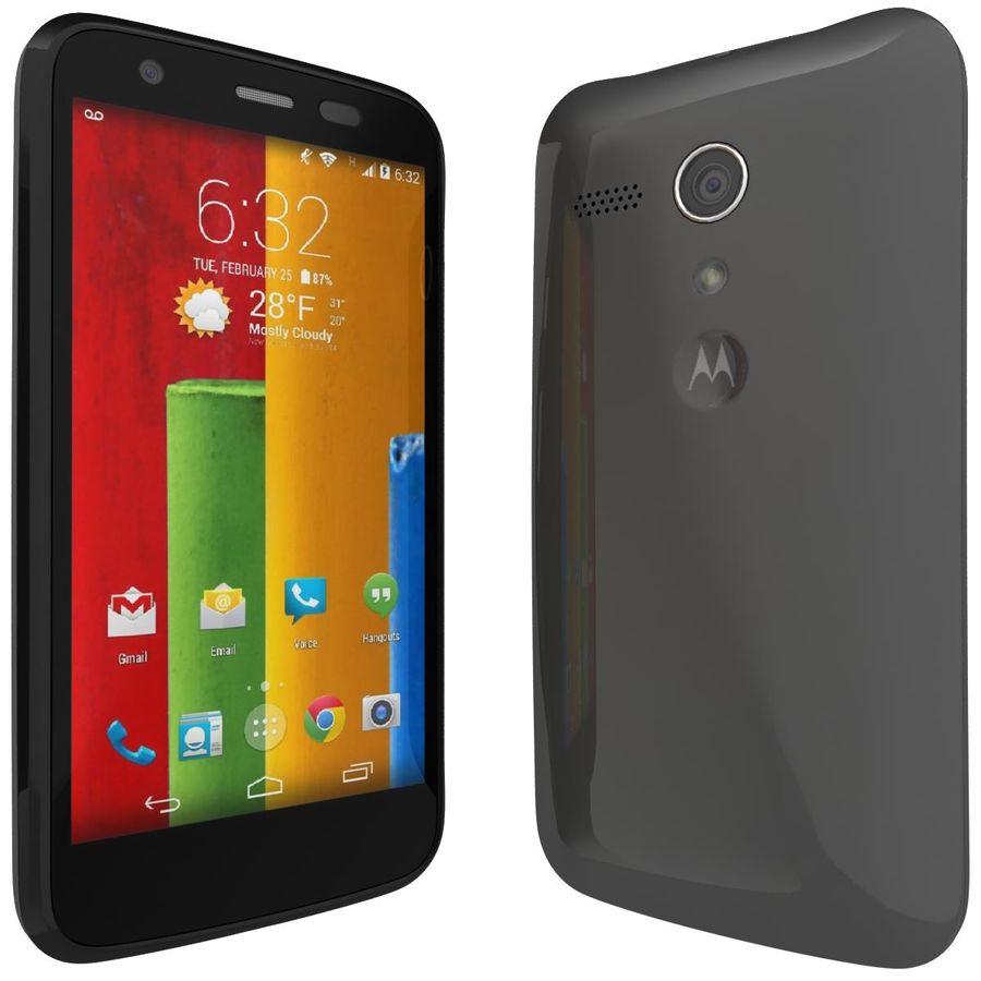Motorola Moto G 4G nero royalty-free 3d model - Preview no. 3