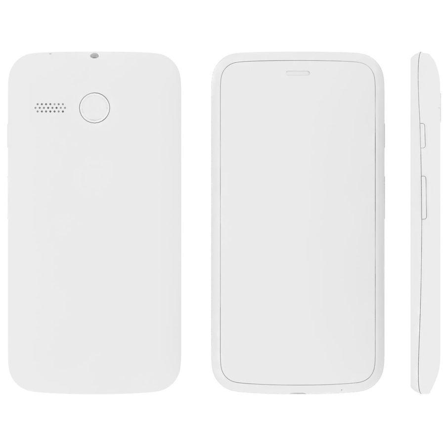 Motorola Moto G 4G nero royalty-free 3d model - Preview no. 26