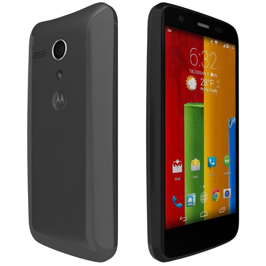 Motorola Moto G 4G nero royalty-free 3d model - Preview no. 5