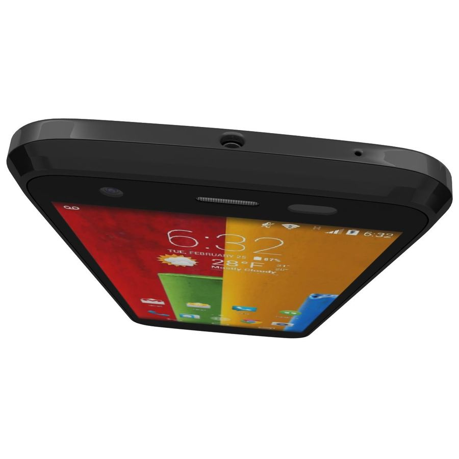 Motorola Moto G 4G Czarny royalty-free 3d model - Preview no. 11