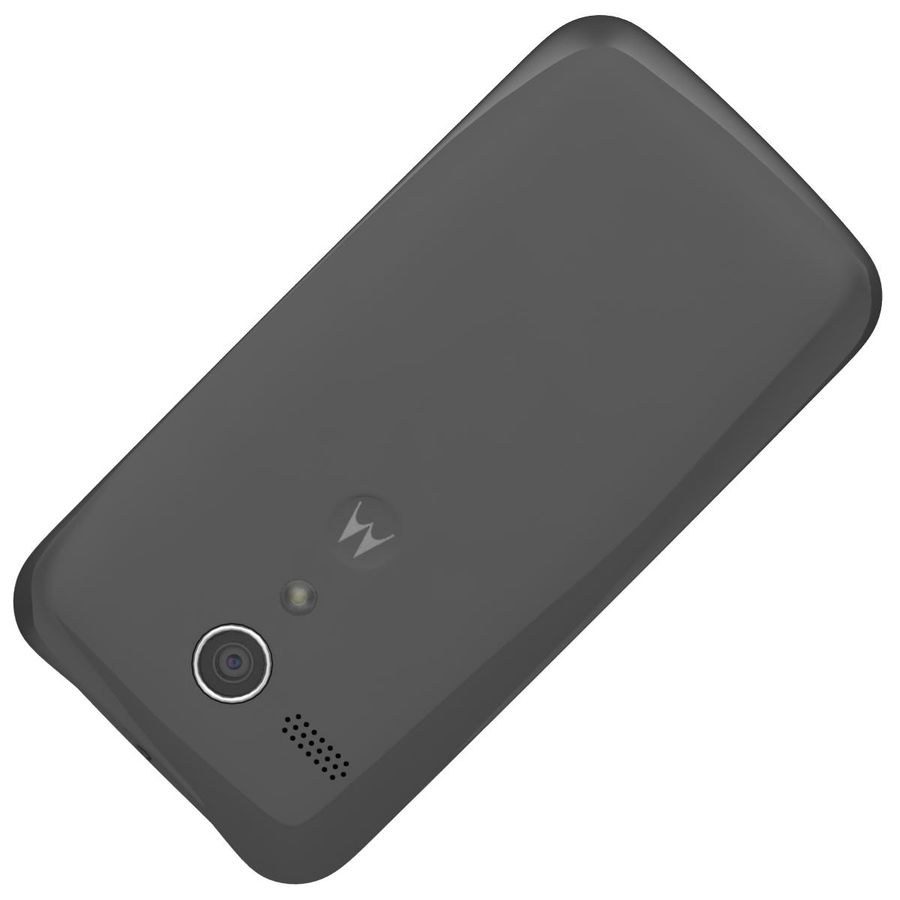 Motorola Moto G 4G nero royalty-free 3d model - Preview no. 22