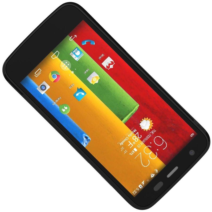 Motorola Moto G 4G Czarny royalty-free 3d model - Preview no. 16