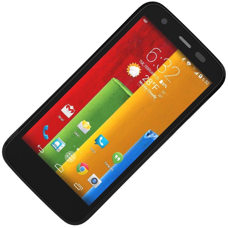 Motorola Moto G 4G nero royalty-free 3d model - Preview no. 15