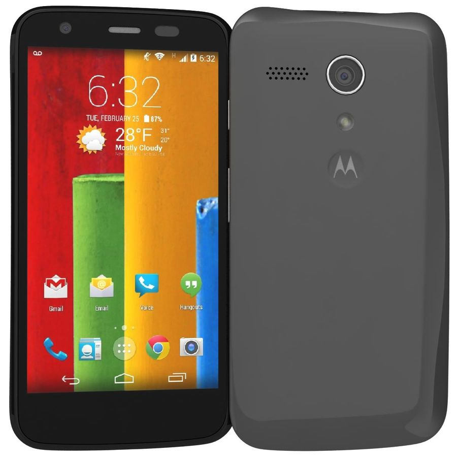 Motorola Moto G 4G Czarny royalty-free 3d model - Preview no. 2