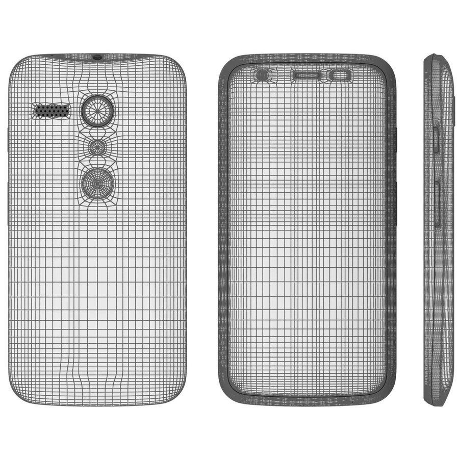 Motorola Moto G 4G nero royalty-free 3d model - Preview no. 25